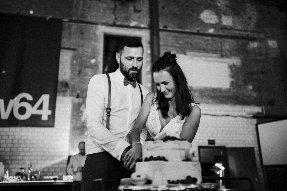 Hochzeit im Kabelwerk B64 Hochzeitstorte